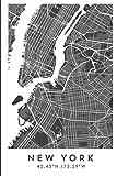 NEW YORK 40.43ºN /73.59ºW: Cuaderno de viaje. Diario, bullet journal, bujo, Diseñado en Barcelona, cuaderno (CITY MAPS)