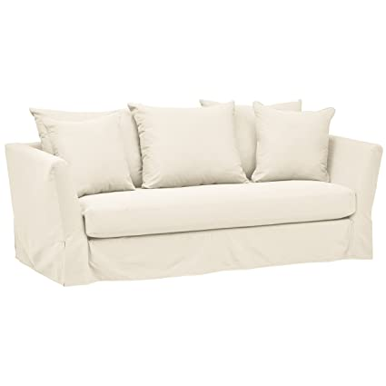 Cool Stone Beam Bartow Living Room Loveseat Sofa With Slipcover 86W Natural Caraccident5 Cool Chair Designs And Ideas Caraccident5Info