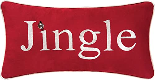 C F Home Jingle 10×19 Pillow 10 x 19 Red
