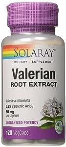 Solaray Guaranteed Potency Valerian Root Extract 50 mg Capsules, 120 Count