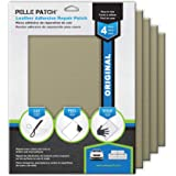 Pelle Patch - 4X Leather & Vinyl Adhesive Repair Patch - 25 Colors Available - Original 8x11 - Beige