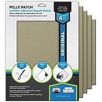 Pelle Patch - 4X Leather & Vinyl Adhesive Repair Patch - 25 Colors Available - Original 8x11 - Beige
