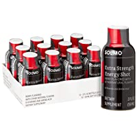 Amazon Brand - Solimo Energy Shot, Berry Flavor, 2 Fluid Ounce (Pack of 12)