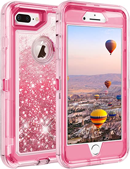Amazon Com Coolden Case For Iphone 8 Plus Case Protective Glitter