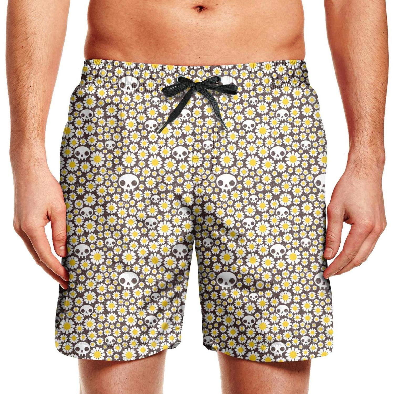 DRORTYY Cool Swim Shorts for Men Bread for Avocado Swimming Trunks Drawstring Mens Beach Shorts Swim Board Shorts