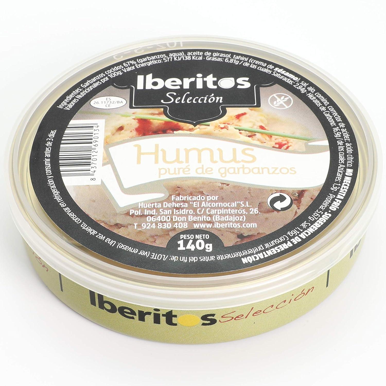 Iberitos - Humus Crema de Garbanzos - 1 Lata x 140 gr: Amazon.es ...