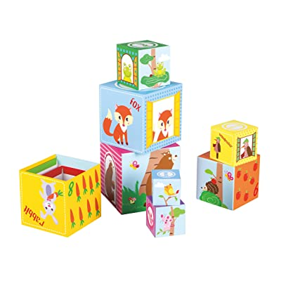 Fat Brain Toys Woodland Friends Stacking Cubes Baby Toys & Gifts for Babies: Toys & Games