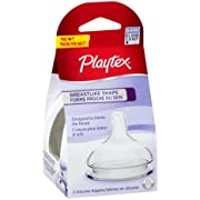 Playtex Breast-Like Nipple, Slow Flow, 2-Count (Discontinued by Manufacturer)