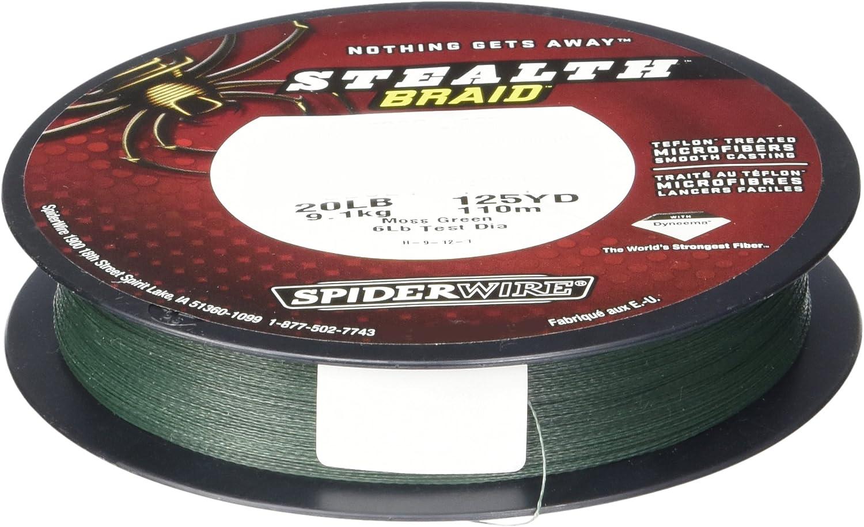 Spiderwire Stealth Moss Green Braid 125 Yards