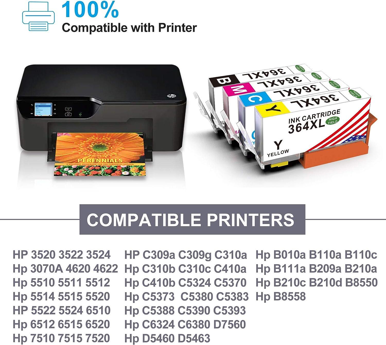 Toner Kingdom Cartuchos de tinta compatibles para HP 364XL para HP ...