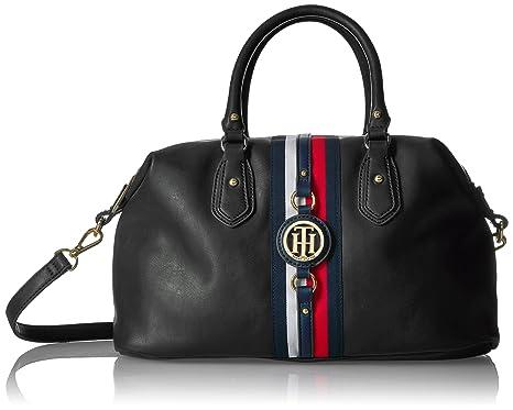 Tommy Hilfiger Bags for Women, Jaden Handbag, Black Polyvinyl ...