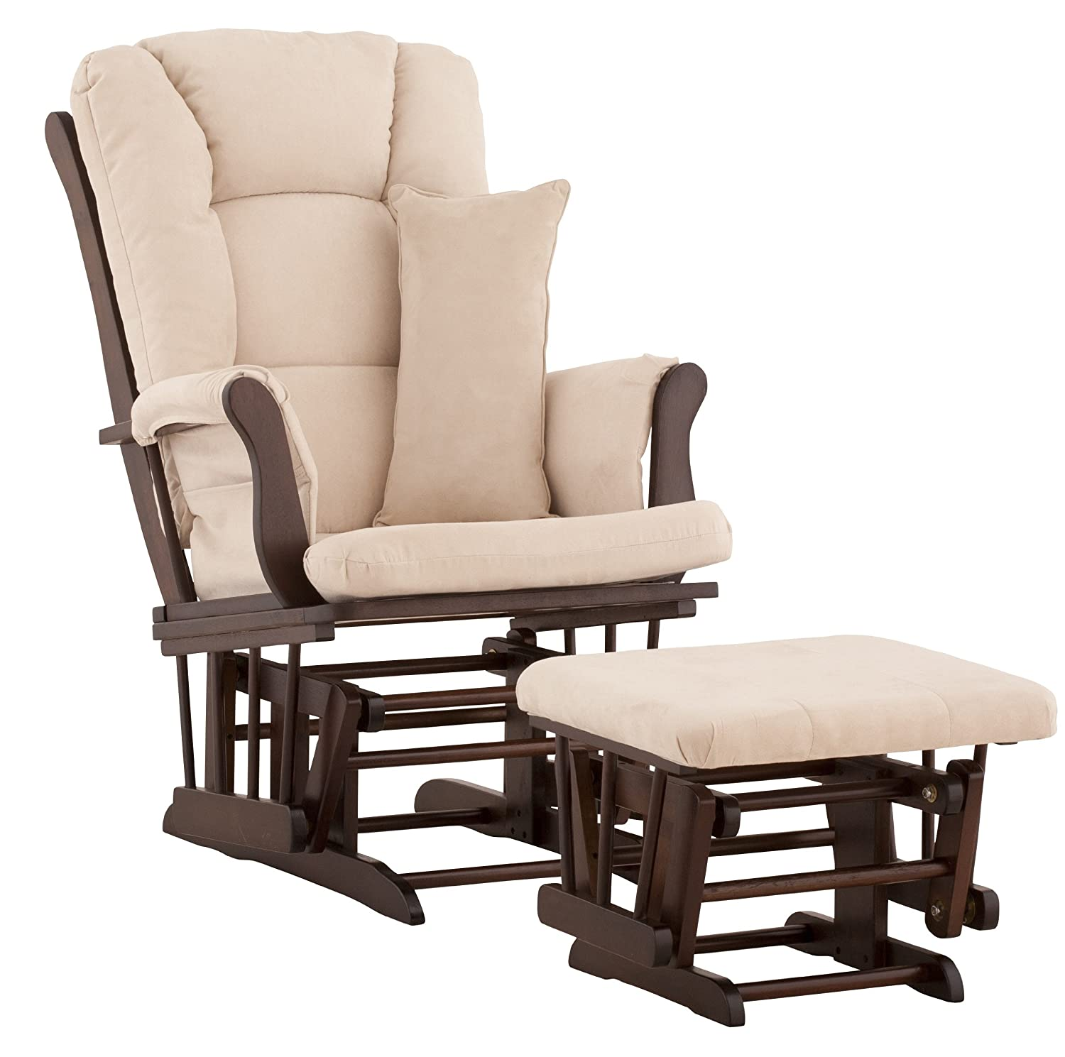 Storkcraft Custom Tuscany Glider and Ottoman, Espresso/Beige Stork Craft 06554-519