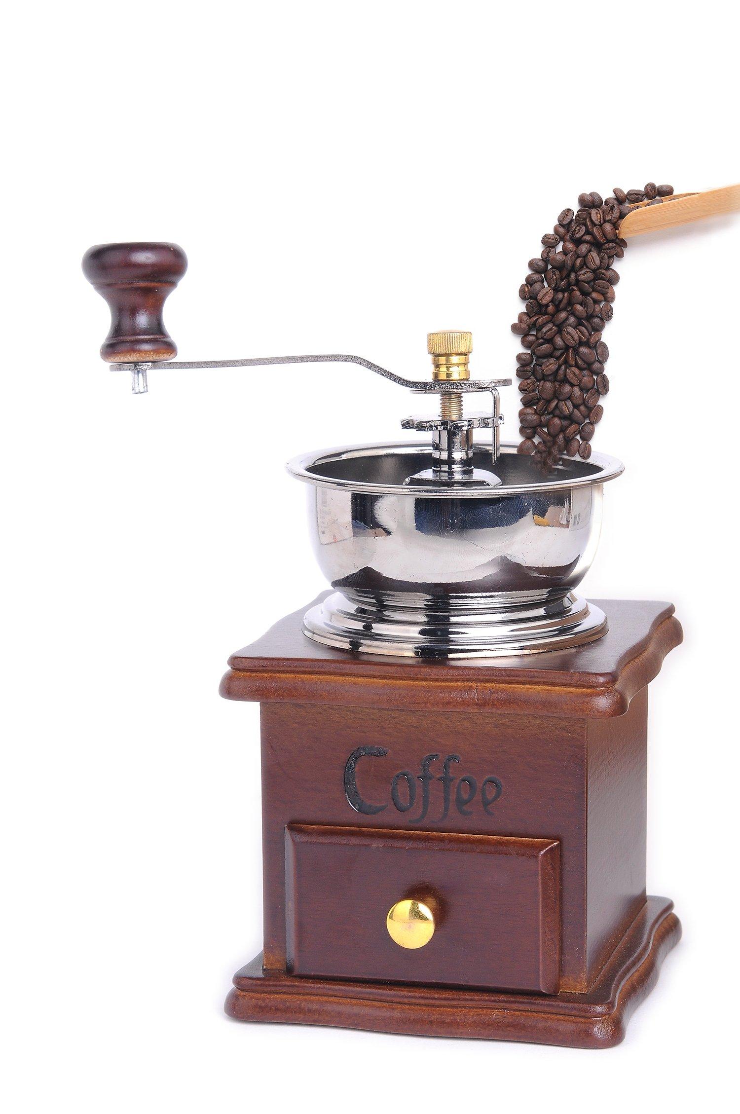 Jomin Manual Coffee Grinder Wooden Coffee Mill Grinder Premium Vintage Style Coffee Grain Burr Mill Machine Wooden Grinder By Jomin by Jomin