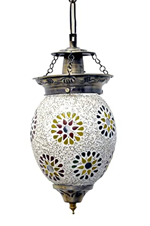 e13b456be4d Buy SGE Designer Mosaic Single Pendant Light for Living Room Office Home  Decor With Traditional Mirror Work Online at Low Prices in India - Amazon.in
