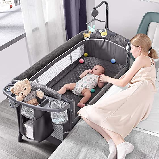 ADOVEL Baby Bassinet Bedside Crib