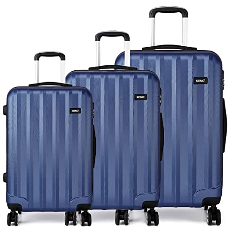 Kono - Juego de 3 piezas para equipaje - Funda rígida de viaje para maleta con