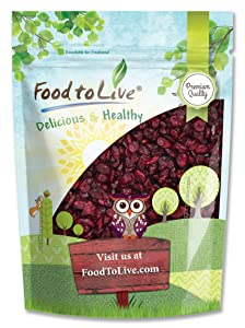Dried Cranberries, 1.5 Pounds — Raw, Kosher, Vegan, Lightly Sweetened and Coated with Sunflower Oil, Unsulfured, Bulk