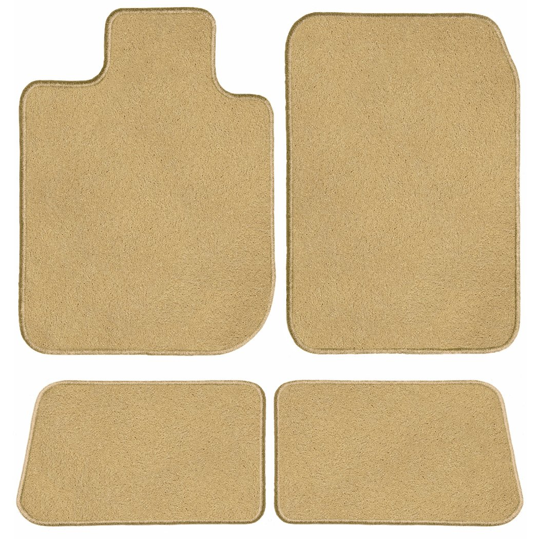 Passenger /& Rear GGBAILEY D60229-S1A-BGE Custom Fit Automotive Carpet Floor Mats for 1972 Porsche 911 Beige Driver