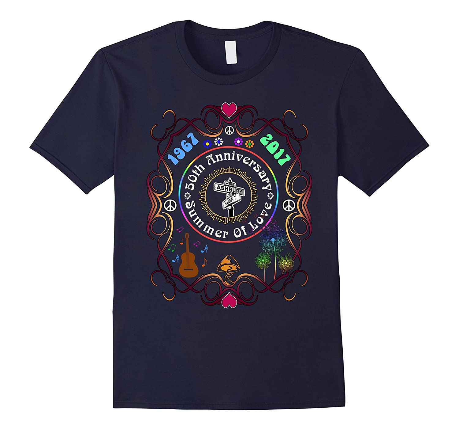 50th Anniversary of The Summer Of Love T-Shirt-Art
