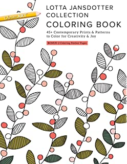 Lotta Jansdotter Collection Coloring Book 45 Contemporary Prints Patterns To Color For Creativity