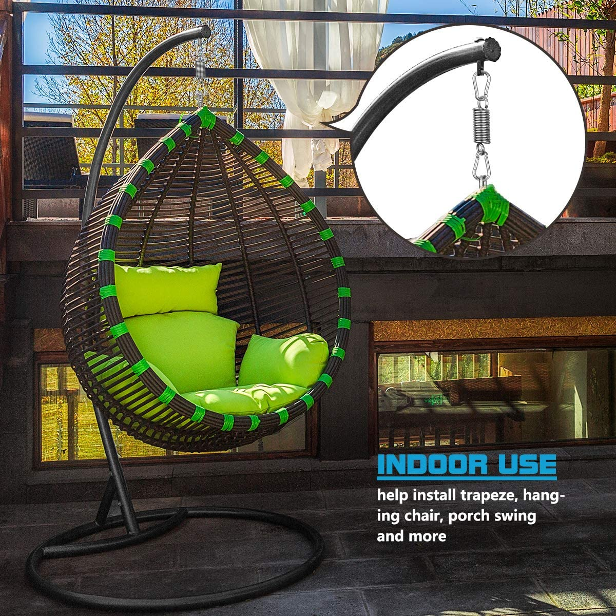 Stainless Steel Mount Kit for Hanging Chair,Punching Bag,Swing,Hammock,Trapeze GROOFOO Heavy Duty Hanger Set