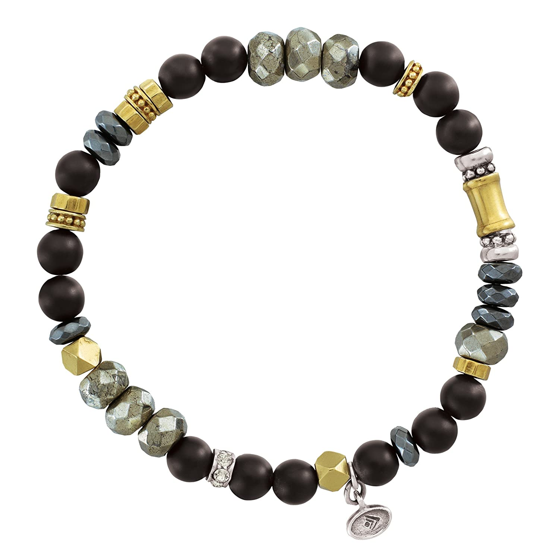 Fashion Coppor Ball Strand Bracelet Men Natural Stone Beads Bracelets Set Women Jewelry Hand Accessories Bright In Colour Strand Bracelets