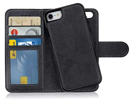 MyGadget Funda Flip Case con Tapa 2 en 1 para Apple iPhone 7/8 en ...