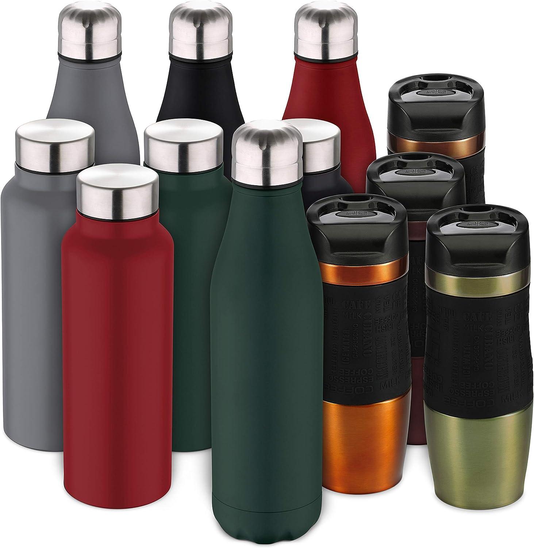 Bergner Botella termo cola 500ml acero inoxidable verde Walking anywhere, 500 ml