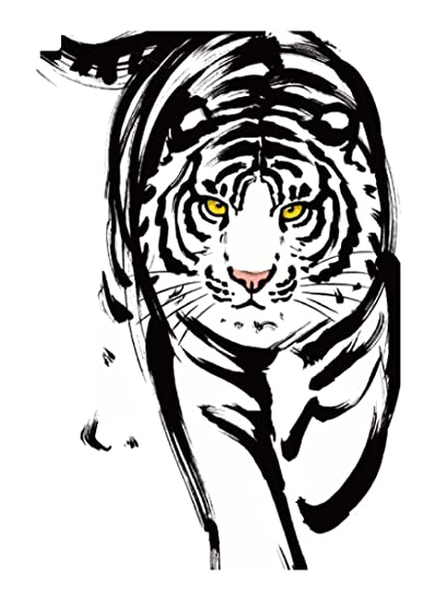 83c9b4be9d028 Amazon.com: black tiger large 8.25