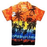 Saitark - Camicia hawaiana da uomo, motivo estivo con di palme