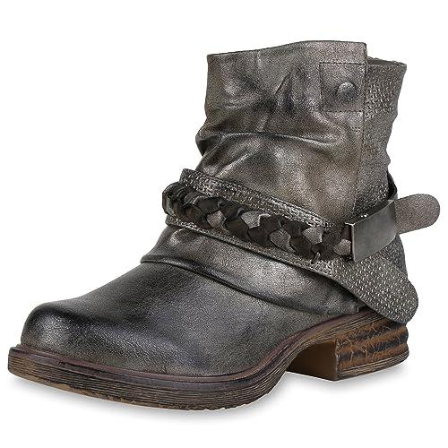 6d5de764eec SCARPE VITA Botas Estilo Motero de Material Sintético Mujer  Amazon.es   Zapatos y complementos