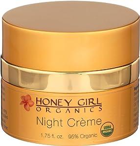 Honey Girl Organics Night Creme, Anti-Aging and Moisturizing, 1.75 Ounce