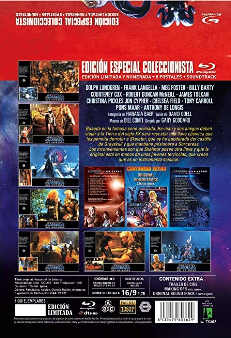 Masters del Universo BD Edición Metálica Limitada y Numerada a ...