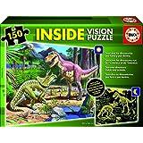 Puzzles Educa - Inside Vision, diseño de dinosaurios (15897)