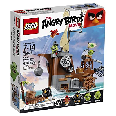 LEGO Angry Birds Piggy Pirate Ship 75825: Toys & Games