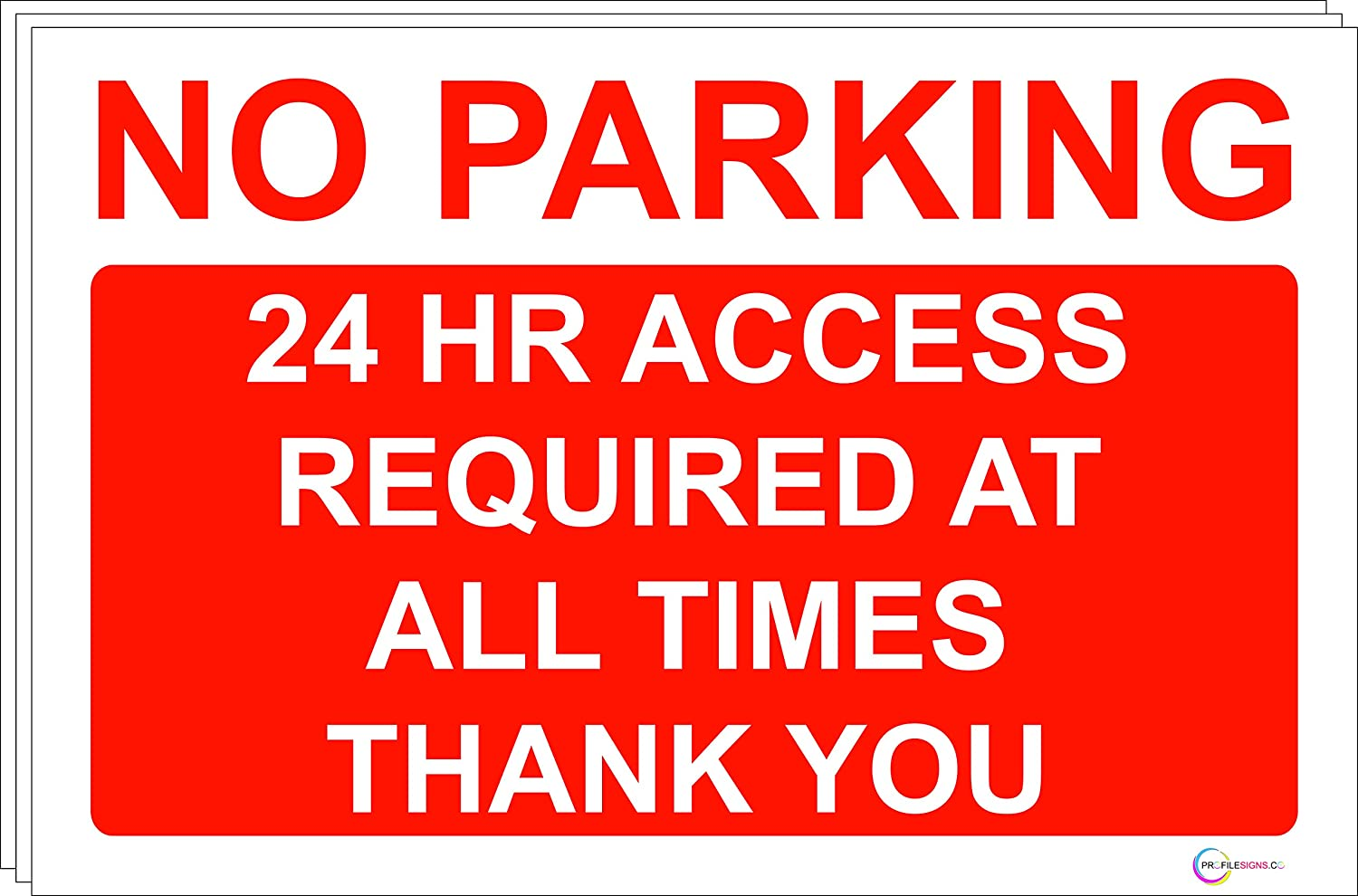 Garage Large Choice 24 Hour Access Rigid PVC Gates Ect NO PARKING Sign//Signs 3, Rigid PVC NO PARKING Garage in constant use Quality Screen Printed By Profilesigns.co