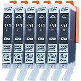 Canon 互換インク BCI-351XLGY グレー 6本セット ( BCI-351XL+350XL/6MP 対応の 351XL グレー6本) ( BCI-351GY の大容量タイプ) ICチップ付き 残量表示可能 ※[ZAZブランドオリジナル][ FFPパッケージ(351GY)]