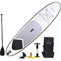 Blue Water Toys White Lightning Inflatable Sup Set Inflatable Stand Up Paddle Board, 10'6""