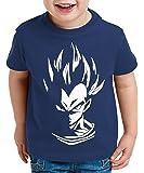 WhyKiki Super Vegeta Camiseta para Niños T-Shirt Goku Dragon Master Ball Vegeta Turtle Roshi Db