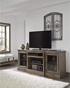 Progressive Furniture 74 in. TV Console in Antique Mist Finish
