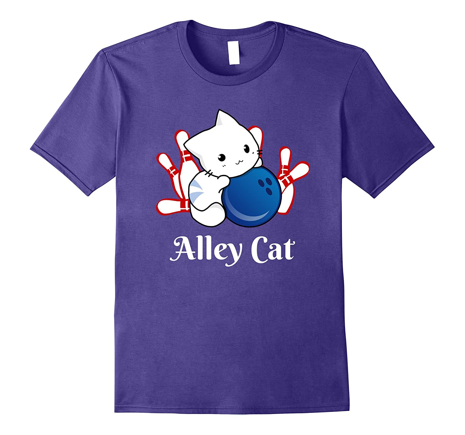 Alley Cat Bowling T-Shirt-CL