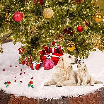 Amazon Com Christmas Tree Skirt 48inch White Christmas Snowman Tree