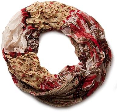 styleBREAKER écharpe tube en boucle avec motif floral allover mélange,  crash et froissé, paisley bd57b063496