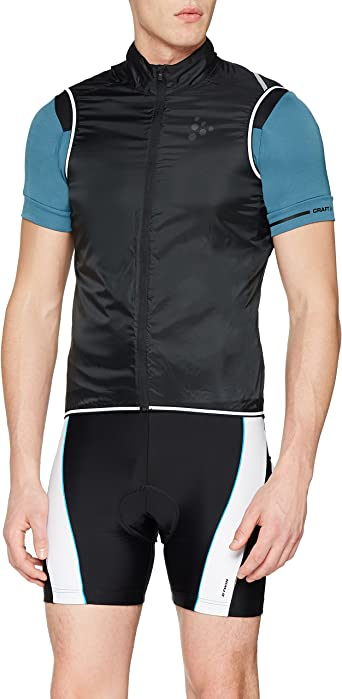 Craft Mens Lithe Bike and Cycling Training Outdoor Sport Lightweight Wind Protective Water Repellent Jacket