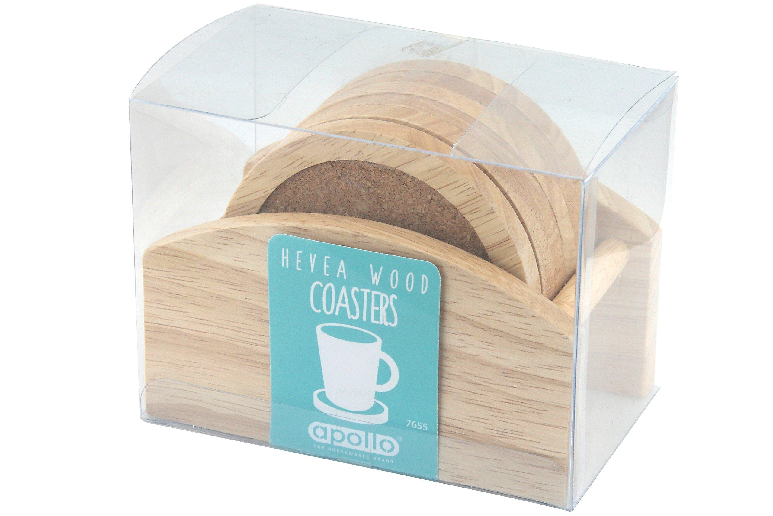 Apollo - Posavasos con soporte de madera de árbol de caucho product image