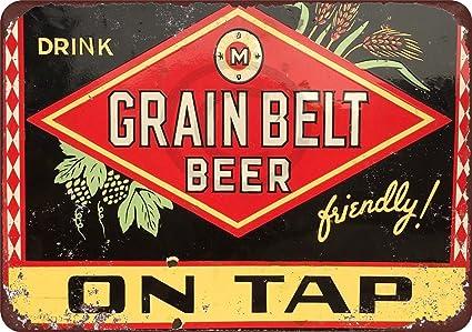 0c15fc8bc074ac Amazon.com: Grain Belt Beer On Tap Vintage Reproduction Metal Sign 8 ...