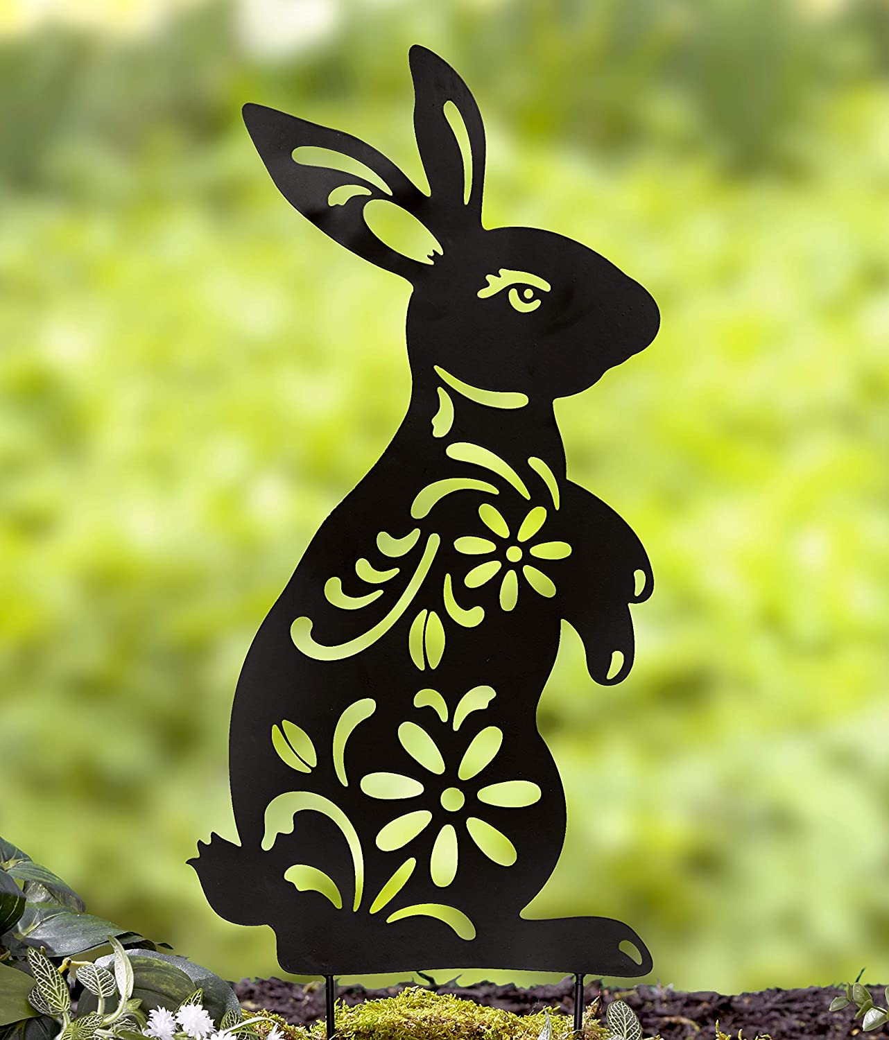 Ltd Commodities LLC Bunny Silhouette Stake for Yards, Gardens - Outdoor Shadow Decoration