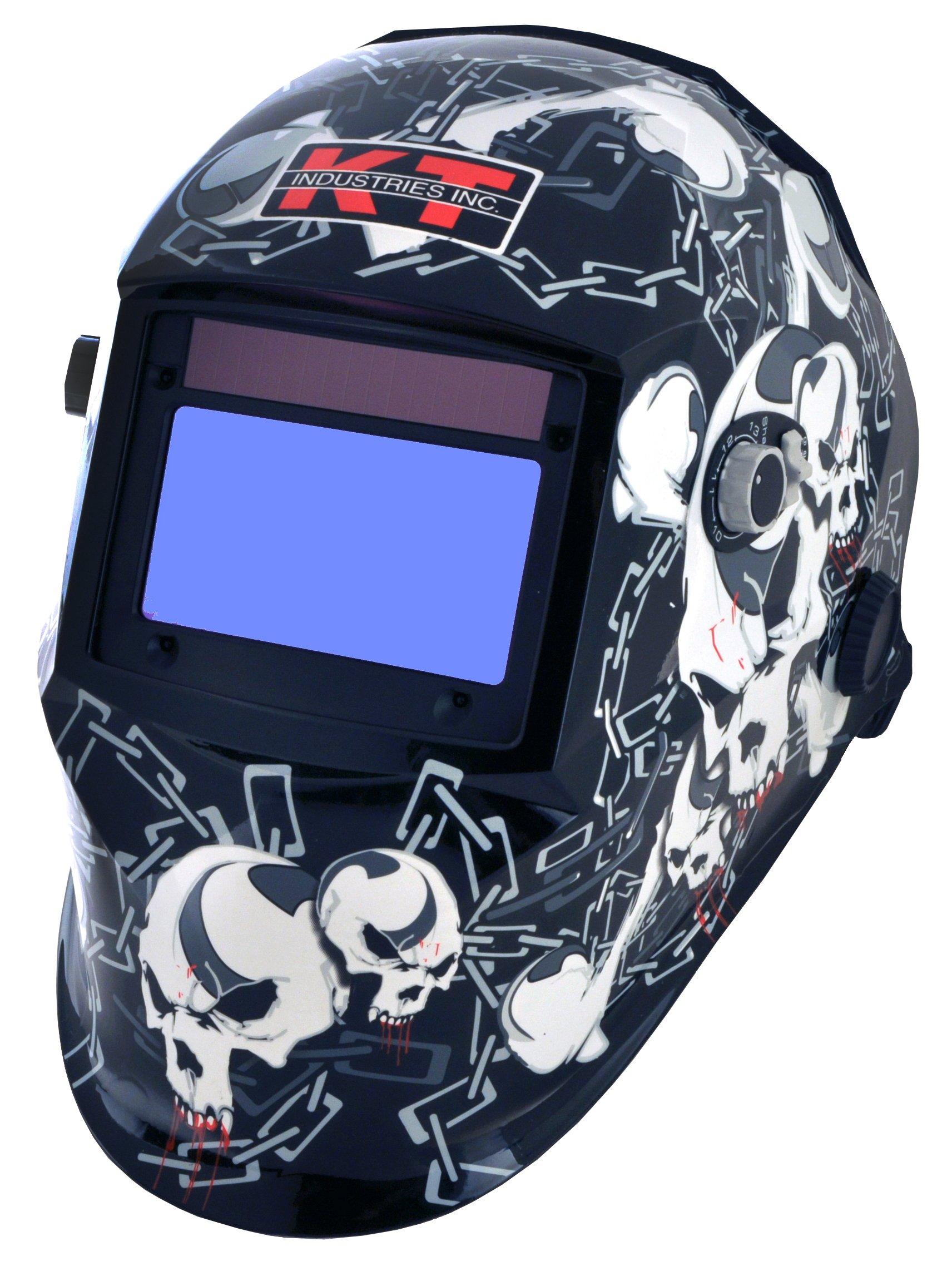 K-T Industries 4-1075, Crossbones Auto Darkening Welding Helmet