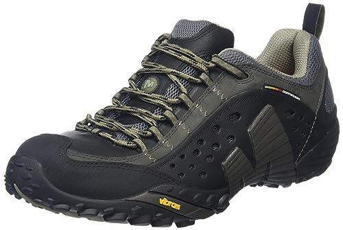 Merrell Intercept, Men's Low Rise Hiking, Black (Smooth Black), 6.5 UK