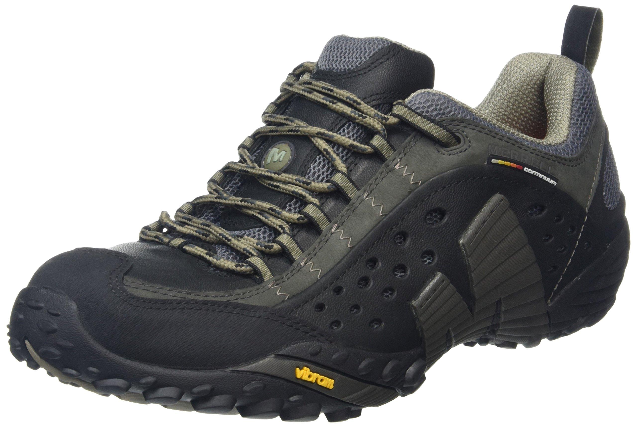 Merrell Men's Intercept Smooth Black Leather Sneaker 10 M